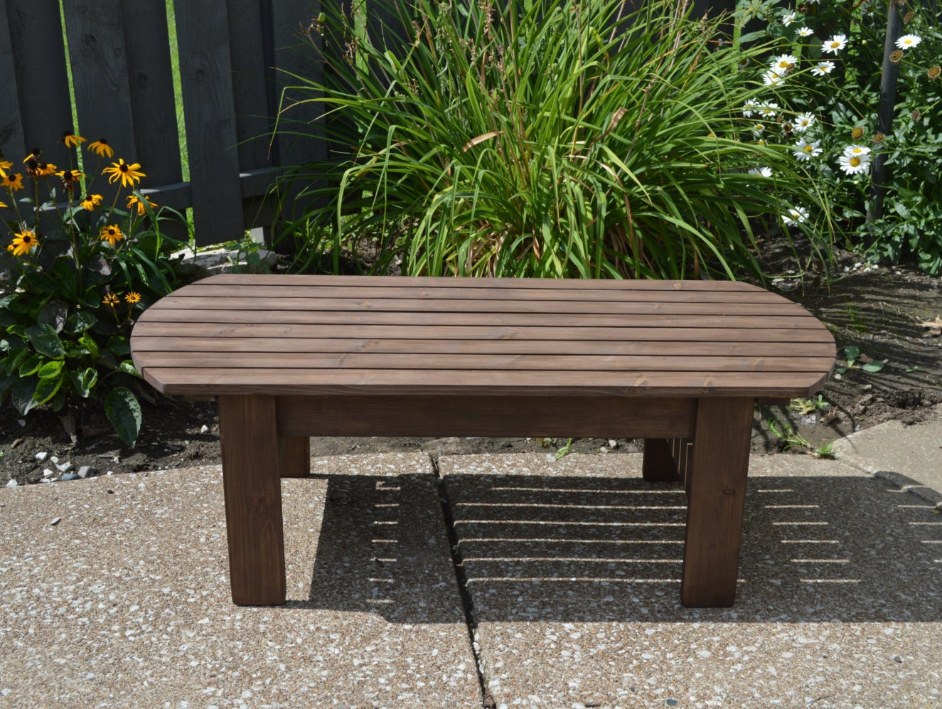 Pine Adirondack Coffee Table Patio Table Wood Table
