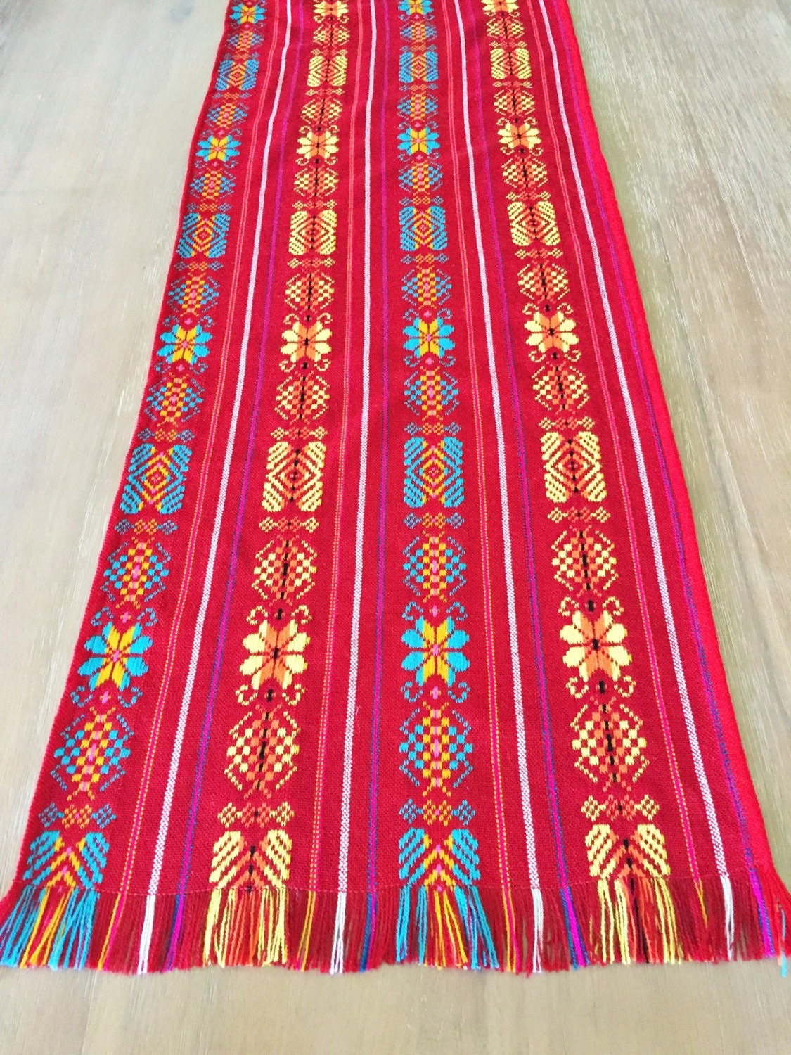 Mexican table runner custom placemats woven napkins or by