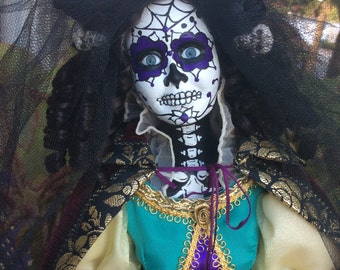 Sugar Skull doll, Day of the Dead doll, Princess doll, Catrina Doll, Horror doll