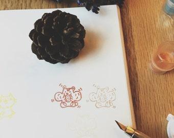 hamster hand carved rubber stamp.hamster rubber stamp.hamster stamp.pet stamp.animal stamp