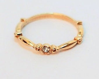 14K / 8K Vintage Style Gold Ring / Stacking Ring
