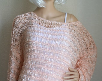 Hand knitted women's sweater