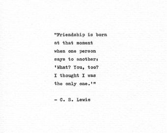 Cs Lewis Quote About Friendship Extraordinary Friendship Print  Etsy