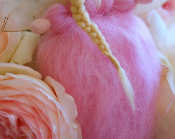 Angy pink, fairy-Waldorf inspired Angel wool