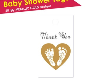 30 Baby Shower Thank You Tags- Baby Shower Tags- Baby Shower Favor Tags- New Baby Thank You Tags- Baby Shower Gift Tags Girl Baby Shower Boy