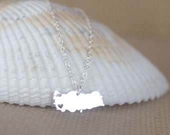 Turkey Necklace - I heart Turkey, Republic of Turkey necklace, Turkey jewelry, Hometown memento