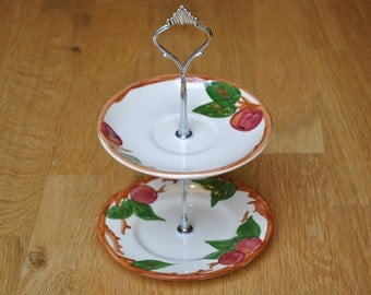 Cake stand vintage pottery plates handmade into a unique gift or feature