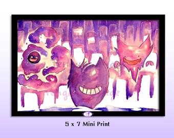Lavender Town Mini Print