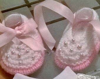 Baby Knitting Patterns Amelia Shoes 0-3mths