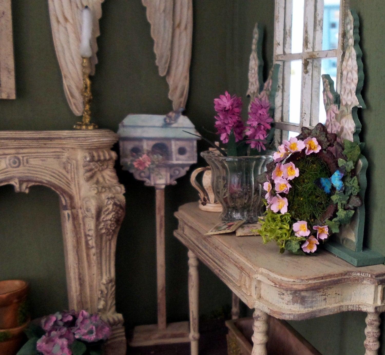 Cadre miniature en m tal fleur de cerisier rose lierre for Decoration accessoire maison