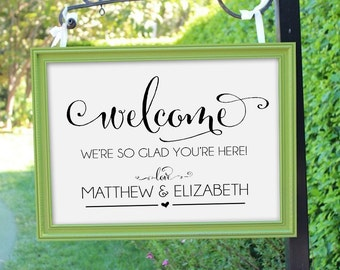 Welcome Sign, Wedding Welcome Sign, Wedding Printable, Wedding Signs, Personalized Wedding Sign, Customized Wedding Sign, WBWD4