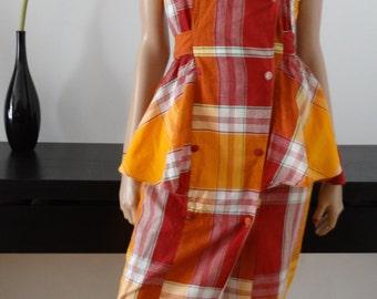 Robe madras orange/rouge/blanc west indies taille 38-40 / uk 10-12 / us 6-8