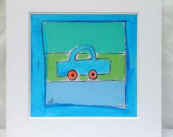Boys blue car print, blue car print, boys fun print, kids car print, kids print, boys print, fun print for boys, car print for boys, car art