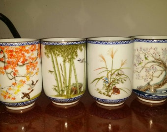 Cups tea Japanese