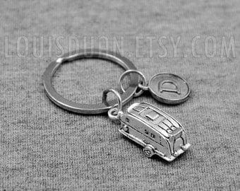 Caravan Key chain  -Trailer Keychain -Camper Keychain -Initial Keychain -Your Choice of A to Z