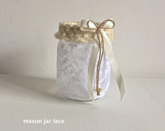 Mason Jar Wedding Centerpiece Light, Wedding Light, Wedding Centerpieces, Wedding Centerpiece whit Candle, Rustic Wedding Light