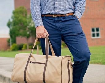 Mens Duffle Bag - Mens Travel Bag -  Personalized Duffle Bag - Monogram Weekender Bag - Personalized Overnight Bag