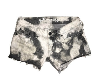 Grunge Tie Dye Cut Off Shorts