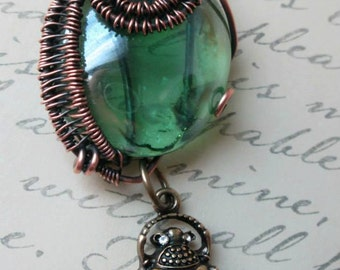 Wire wrapped Magic portal necklace