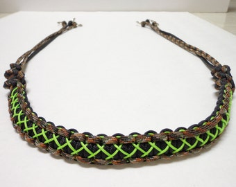 Custom Paracord Game Carrier Black/Camo/Neon Green Stitched