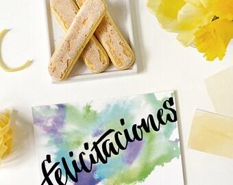 felicitaciones card   spanish   congratulations   spanish congratulations card   congratulations in spanish