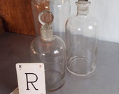 Old Laboratory Bottles Apothecary Glass Reagent Bottles