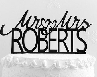 Mr and Mrs Roberts Wedding Cake Topper