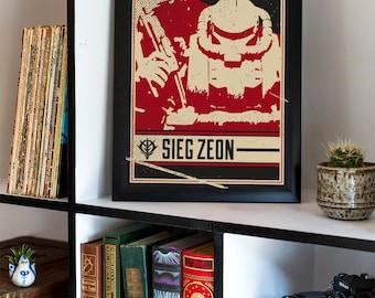 Mobile Suit Gundam Zeon Propaganda Poster