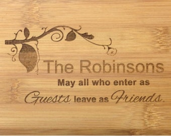 Bread/Cheese/Cutting Board-Personalize/Engrave, Wedding/Bridal/Anniversary/Family/Couple Gift, House Warming, Birthday Present, Christmas