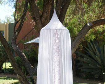 Lace Play canopy in white cotton/ hanging tent/ hanging canopy