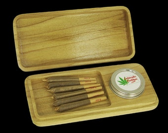 STASH BOX, The Gunnison Blunt Box, Free Pipe & Papers. Made out of Colorado Aspen Wood