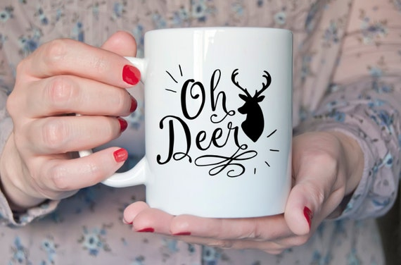 OH DEER | Cute Gift | Message Mugs | 11 oz.