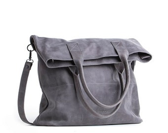 Foldover crossbody bag - foldover tote - large foldover purse - bag with long handle - long tote - large tote bag - crossbody messenger bag