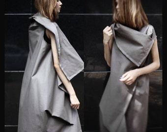 Asymmetrical sleeveless vest/ avant garde dress