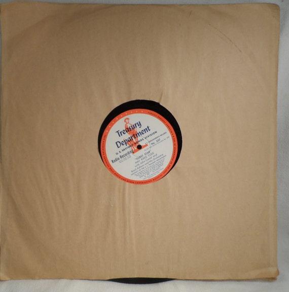"16"" Vinyl Records-Treasury Dept. Radio Recording 11/1/1957-12/1/1957 Nat King Cole,"