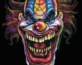 Evil Clown Printed T-Shirt