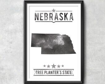 NEBRASKA State Typography Print, Typography Poster, Nebraska Poster, Nebraska Art, Nebraska Gift, Nebraska Decor, Nebraska Print, Nebraska