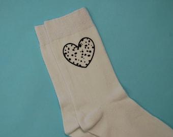 Dalmatian heart socks