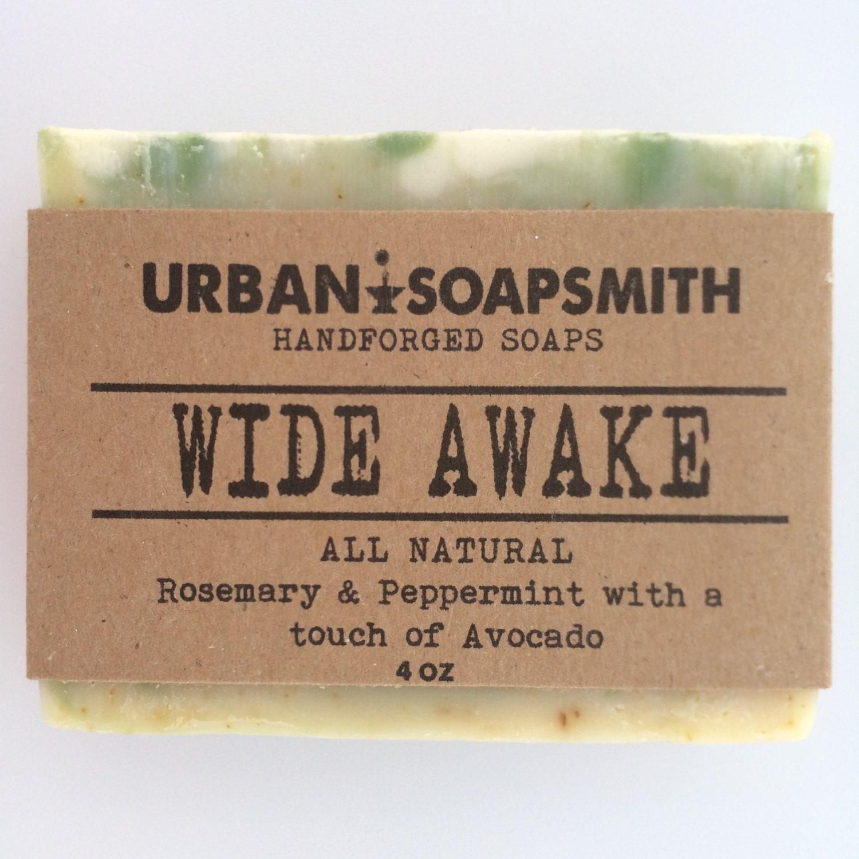 Rosemary Peppermint Handmade Soap: Rosemary Peppermint Soap Herbal Soap Handmade Natural Cold