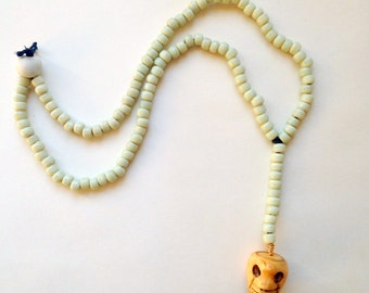 Southwest Skull & Coyote Bead Lariat Necklace Rustic Country Bandit Bohemian Chic southwestern western necklaces