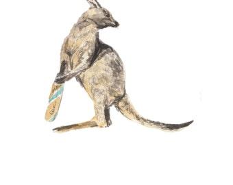 cricket gift idea Kangaroo art kangaroo gift kangaroo print kangaroo nursery art cricket grift cricket print cricket art kangaroo wall art