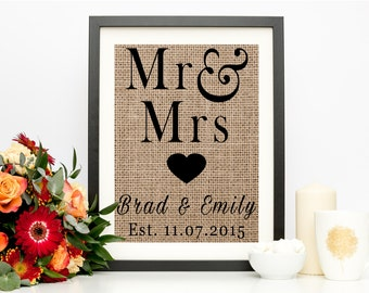 Mr and Mrs Sign, Bride and Groom Gift