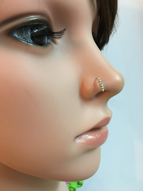 silver nose ring septum nose ring gold nose ring hoop nose