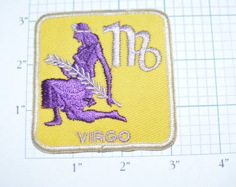VIRGO Astrology 1970's Sew-On Vintage Patch e8b *only 1 in stock* August 23 - September 22 Free Shipping