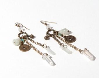 Bronze Assemblage Statement Earrings // OOAK