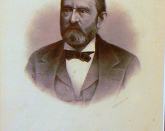 1890 Ulysses S. Grant Antique Print