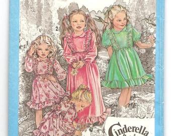 1970's Simplicity 9354 Cinderella Pattern Dress Children Retro Vintage Size 6 Girl garment fashion princess