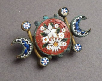 Early micro Mosaic brooch