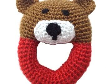 Sweet Crochet Bear Rattle