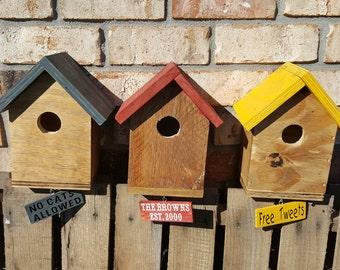Personalized Birdhouses